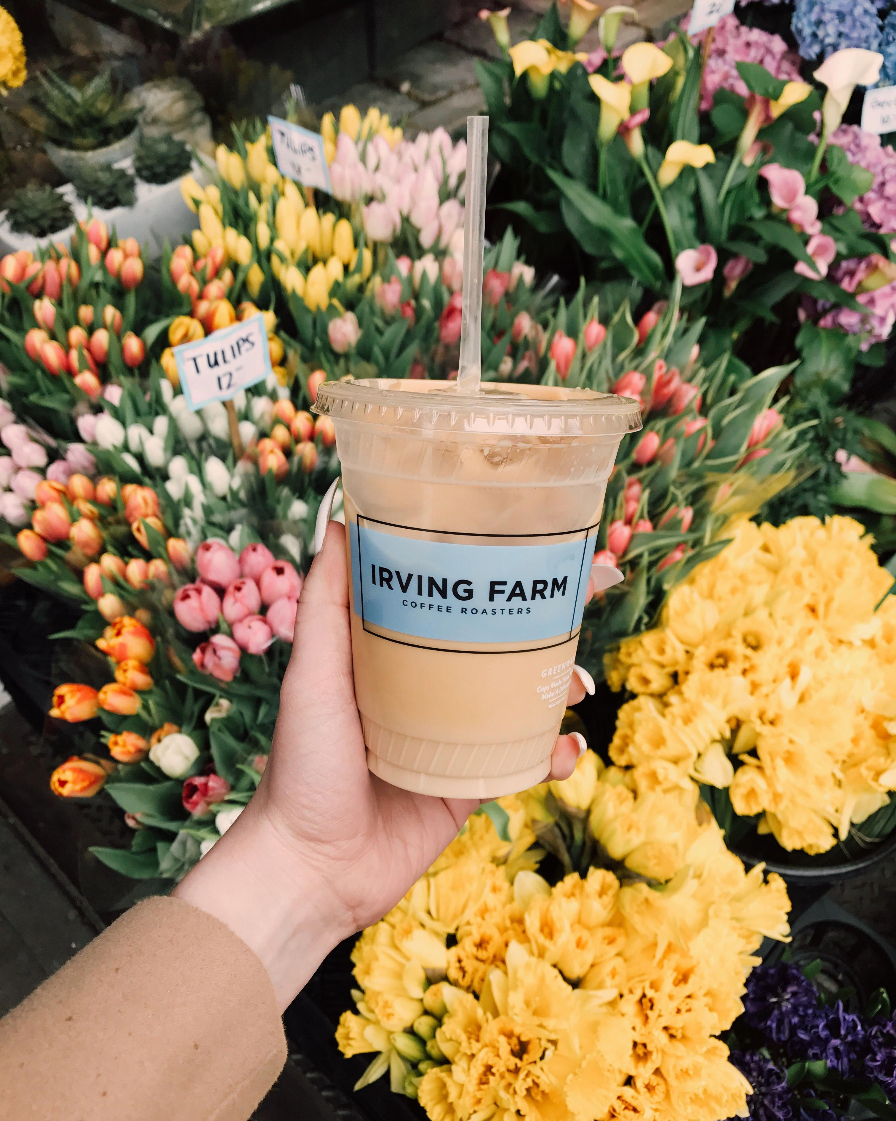 Iced latte irving farm coffee roasters upper west side