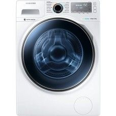 Samsung Ecobubble Wd12j8400gw 12kg 1400 Spin Freestanding Washer Dryer In W Washing Machine Front Loading Washing Machine Front Loader Washing Machine