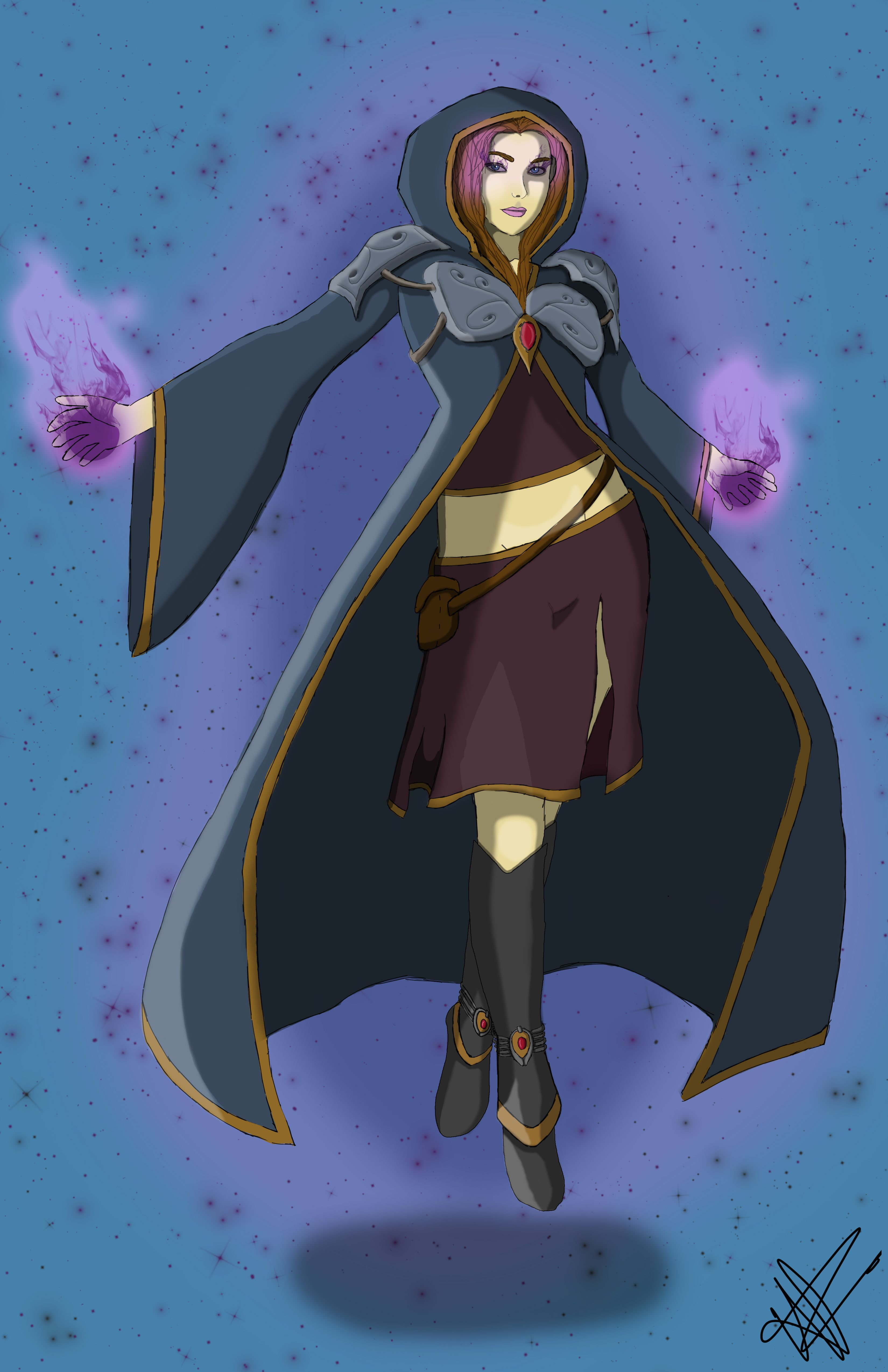 Sorceress by Haley CrowellRodriguez, Art and Animation