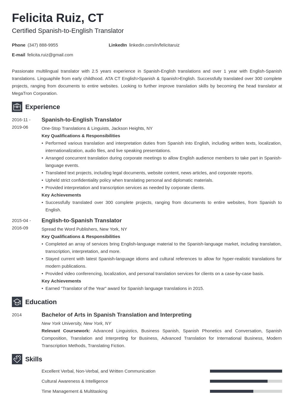 Translator Resume Example Template Newcast Resume Examples Job Resume Examples Resume Template