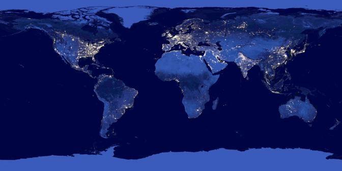 «Black marble», ecco la Terra di notte