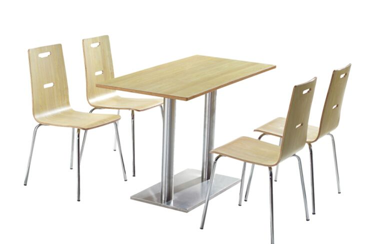 Amazing Restaurant Table Dining Table Set With 4 Chairs In Canteen