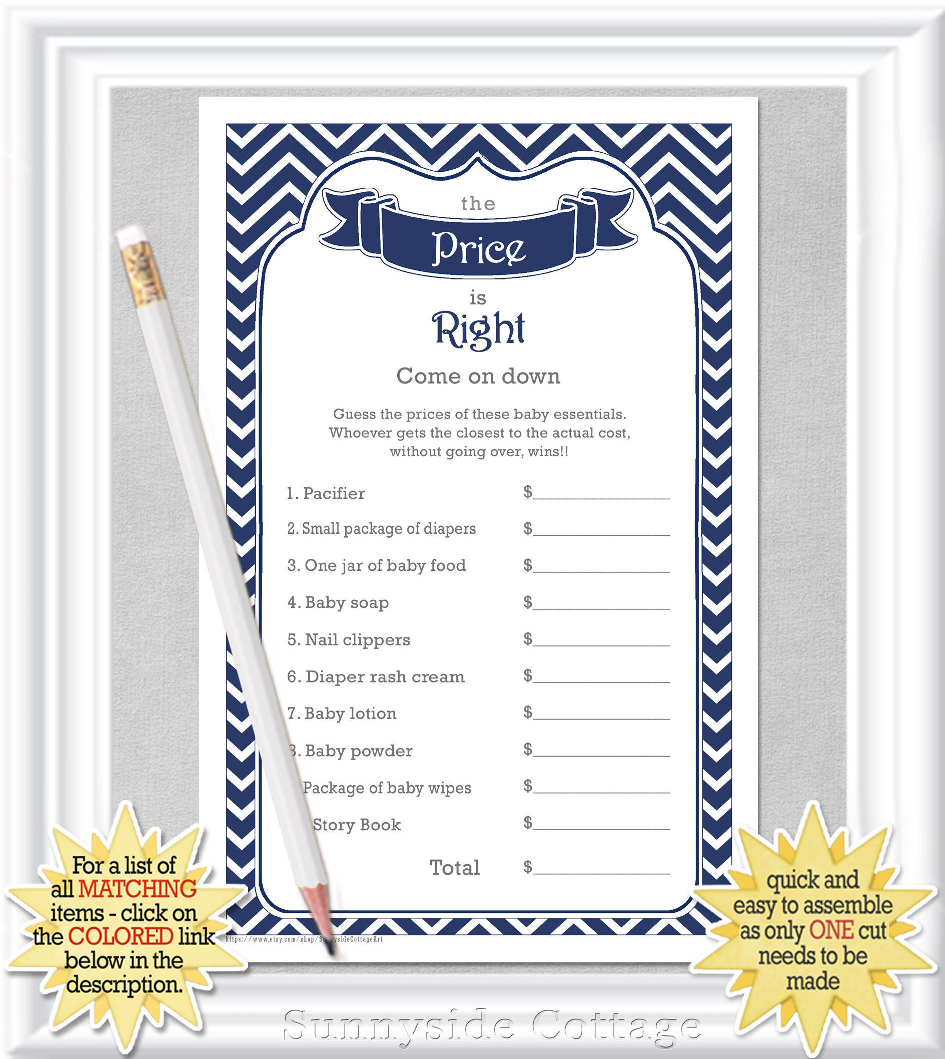 The Price Is Right Baby Shower Game With A Classic