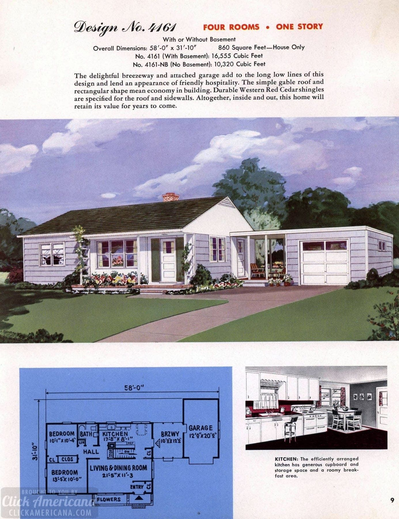 130 vintage 50s house plans used to build millions of mid century homes we still live in today