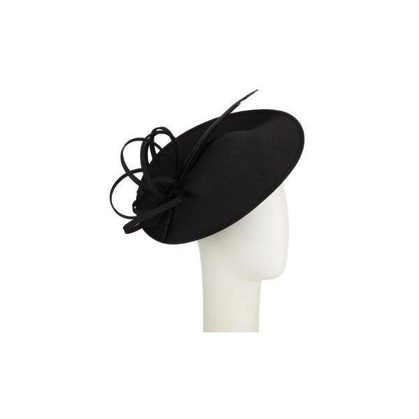 John Lewis Erin 2 Shantung Disc Occasion Hat ($75) ❤ liked on Polyvore featuring accessories, hats, john lewis, garden party hats, holiday hats, cocktail hat and john lewis hats