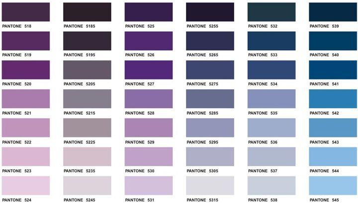 Pantone Color Chart Executive Apparel Pantones Pinterest