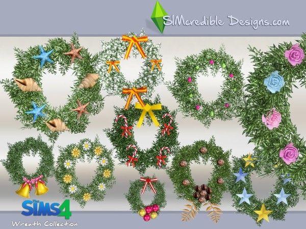 Decorazioni Natalizie The Sims 4.Simcredible S Wreath Collection The Sims 4 Cc Decorazioni