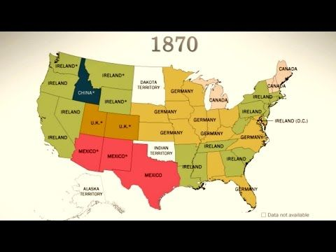 Youtube Map Of Ireland.America S Sources Of Immigration 1850 Today Youtube School