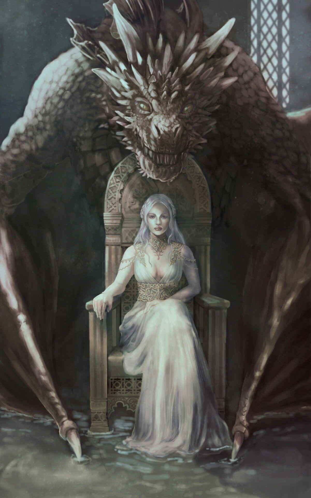 Dragons game of thrones colors - Game Of Thrones Fanart Daenerys Targaryen Mother Of Dragons