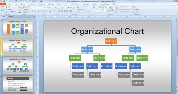 free org chart powerpoint template | projects to try | pinterest, Presentation templates