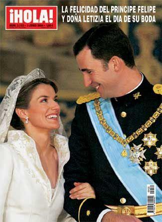 Capa da revista ¡HOLA! do Casamento de Felipe, Príncipe das Asturias e Letizia Ortiz.