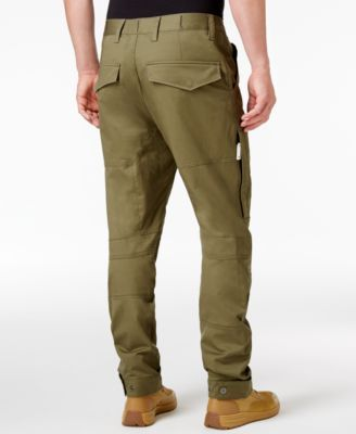 G Star Raw Men's Rackam Slim Fit Tapered Cargo Pants Green
