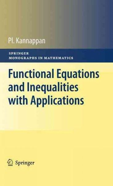 Functional equations and inequalities with applications functional equations and inequalities with applications fandeluxe Choice Image