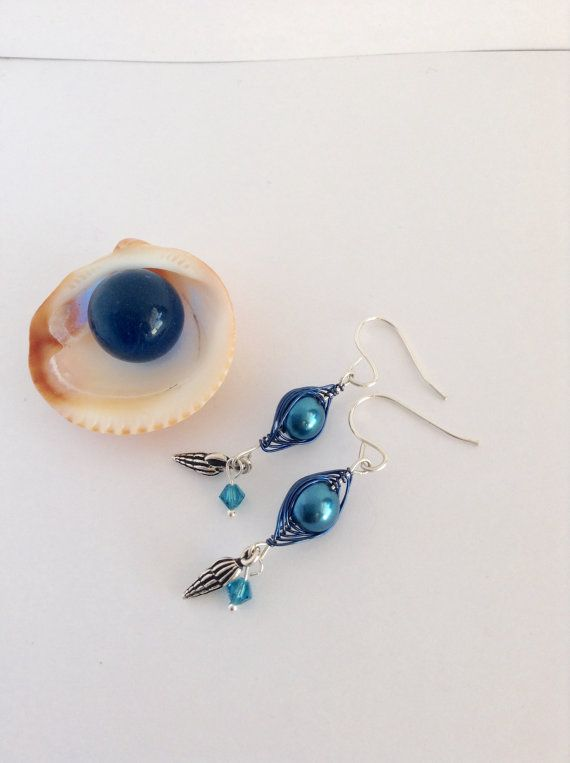 Ocean Blue Earrings  Seascapes Collection by madebyMaegan on Etsy