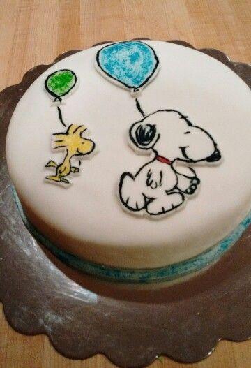Peanuts Snoopy woodstock cake Cake ideas Pinterest Cake