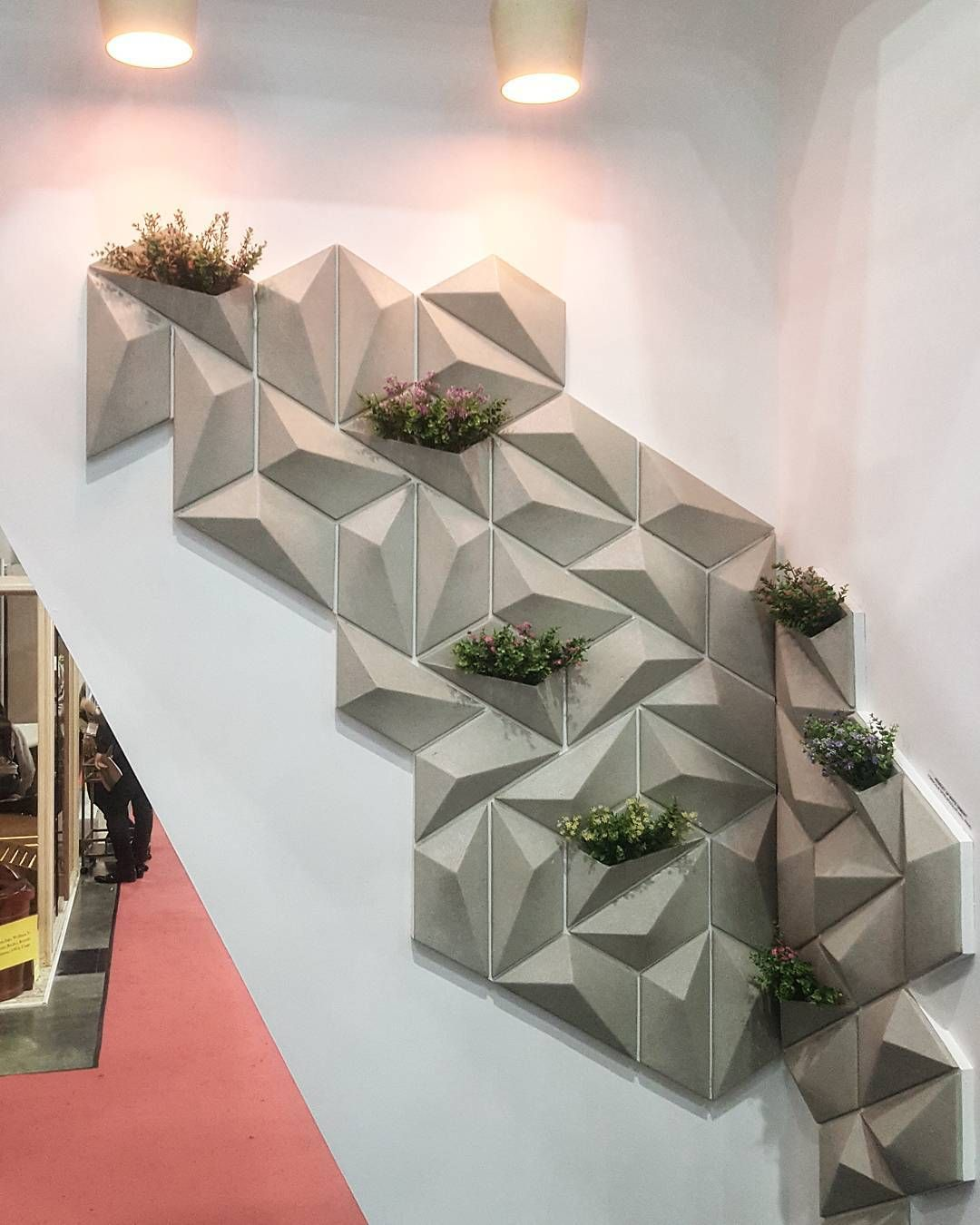 Finished Installation Of The Modular Wall Panel With Integrated Planter In Archidex Show 2017 In Malaysia Ntarchistudio Malaysia Booth Design Whi