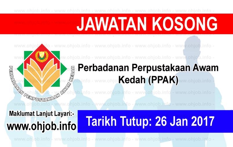 Jawatan Kosong Perbadanan Perpustakaan Awam Kedah (PPAK