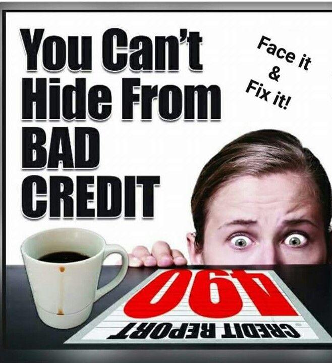 66b0a5b47e118145e1543f3244769c76 can't hide from bad credit credit repo & money matters pinterest