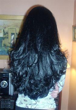 Cortes de cabello negro largo en capas