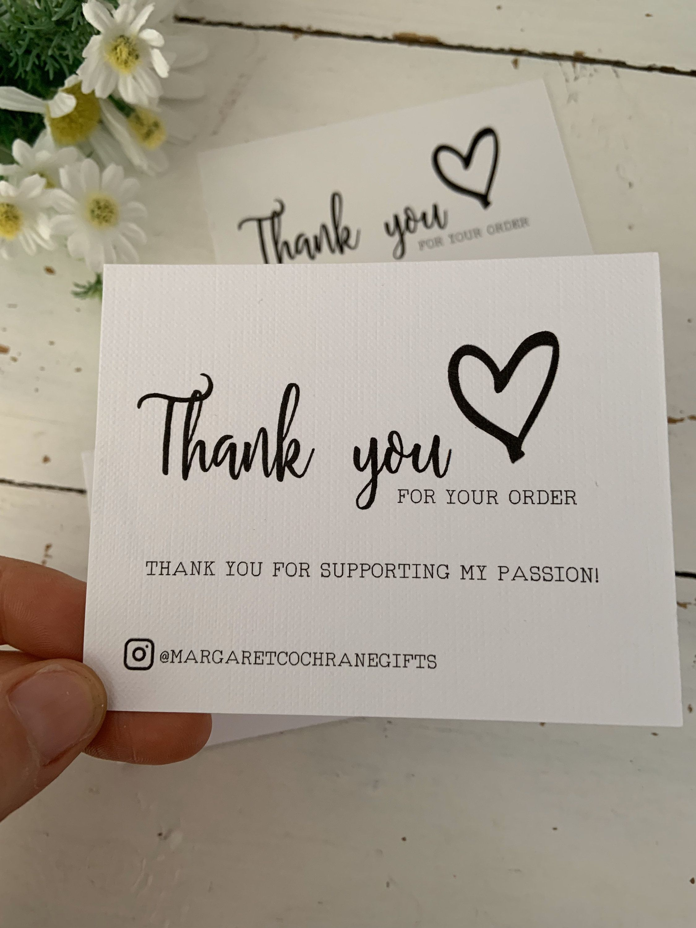 10 pack personalised thank you for your order business