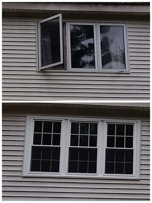 Updated Casement Windows To Double Hung Adding Energy Efficiency And Character Casement Windows Windows Window Installation