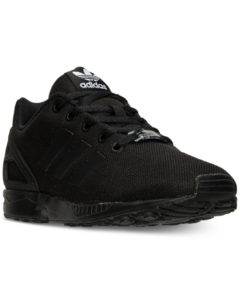 8141fb3dac7e0 adidas Big Boys  Zx Flux Casual Sneakers from Finish Line - Black 6.5