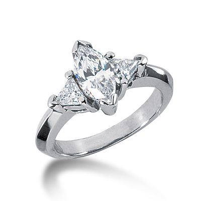 Marquise Ring Settings without Stones set trillion prong set