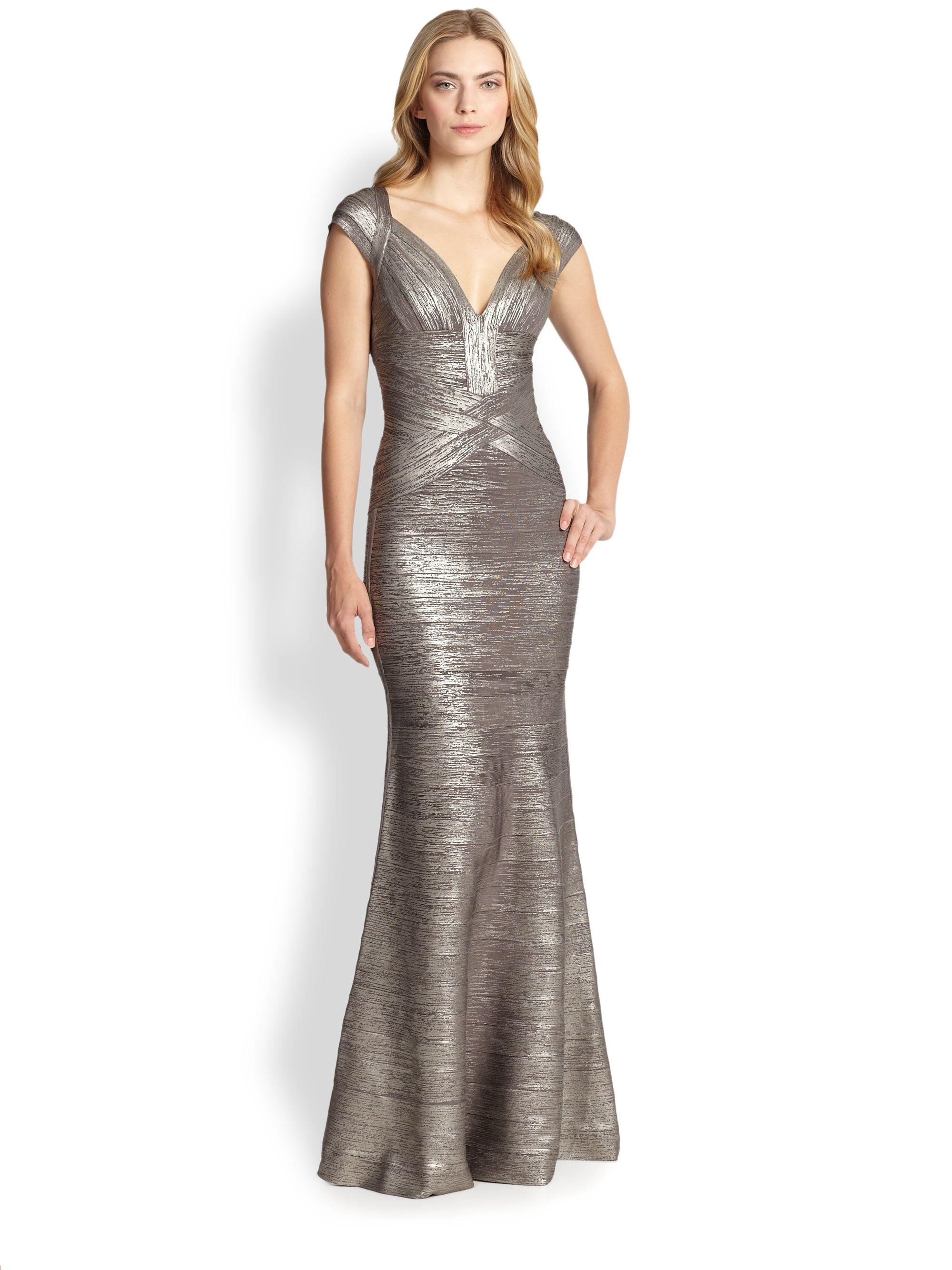Bridesmaids Mermaid Gown Dresses Silver Dress V Neck