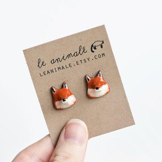 #houseofcuties | Fox Earrings from Le Animale on Etsy.com