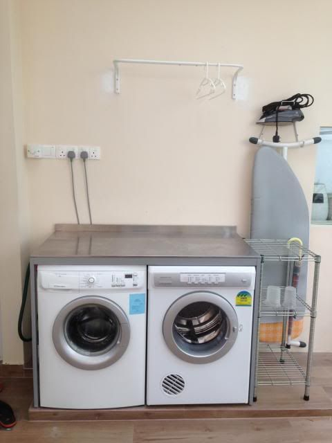 Udden console from Ikea to fit washer and dryer Wet kitchen