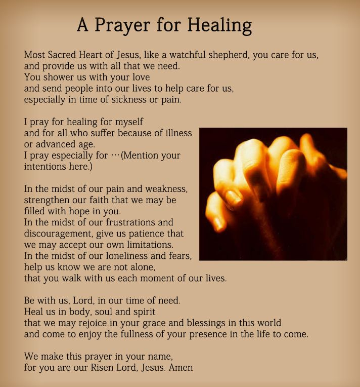 Prayers for Healing - Cure The Sick With Prayer ...