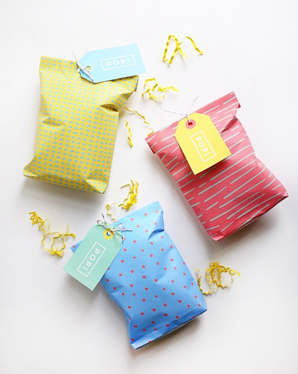 Printable Popcorn Bags-perfect for your next party!! Free