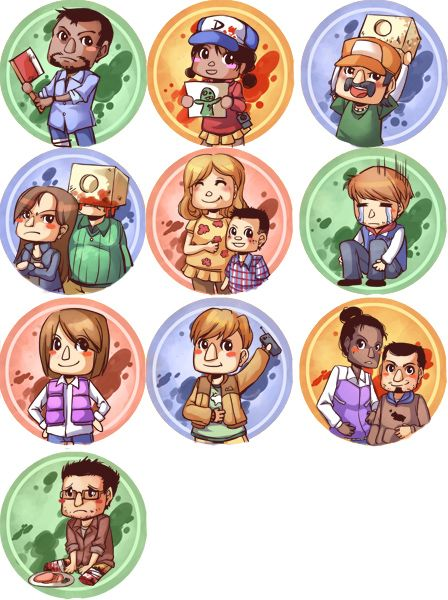 Fan Made The Walking Dead Game Buttons