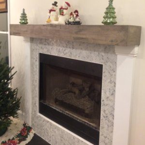 Benchwright Floating Shelves Farmhouse Fireplace Decor Chimney