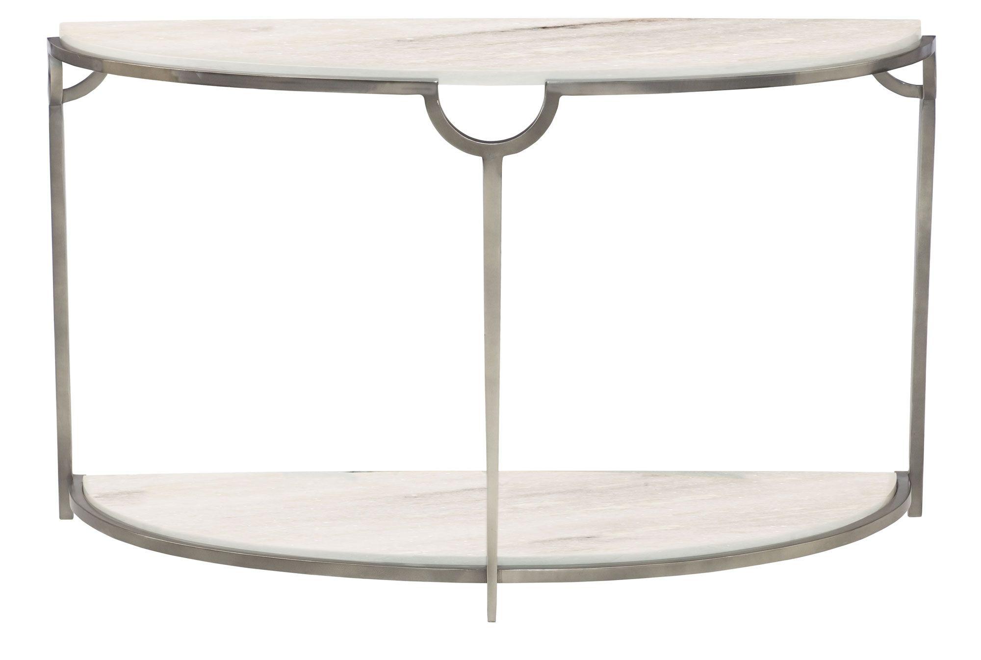 Small Demilune Hall Table bernhardt morello demilune console table #469-913 w: 48 d: 18 h