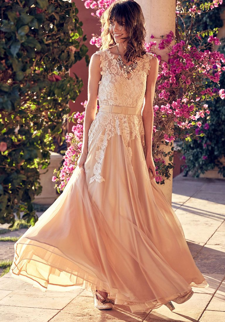 5d993f753581 Memorable Magic Maxi Dress in Tea in S - Sleeveless Twofer by ModCloth