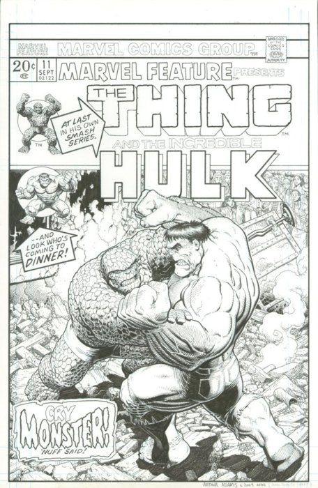 The Thing versus the Hulk by Art Adams