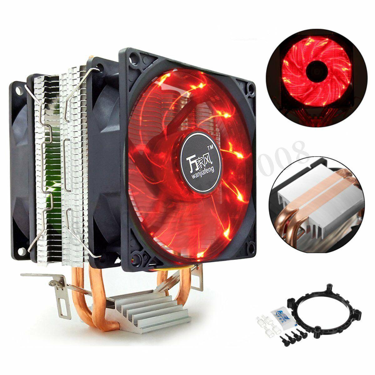 Cpu Fans And Heat Sinks 131486 Cpu Air Cooler Dual Fan 2 Heatpipes Cooling Heatsink For Intel Amd Am 3 4 Ryzen Buy It Now Only Heatsink Fans For Sale Ebay