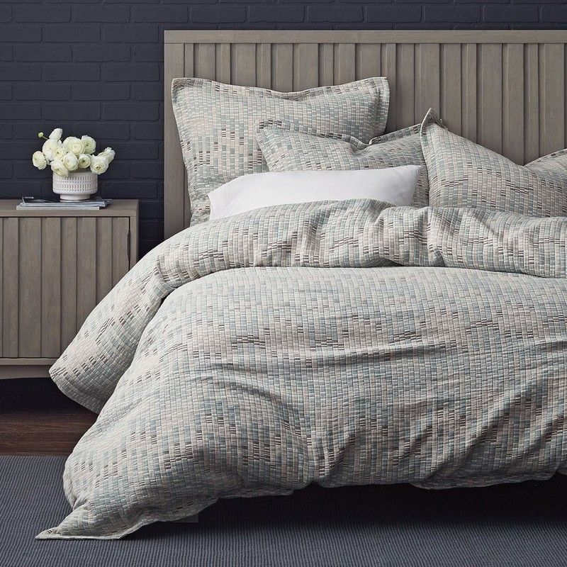 Lofthome By The Company Registered Mosaic Square Duvet Cover Sham Bring Some Texture To Bed Taking Its Cue From Beauty Of