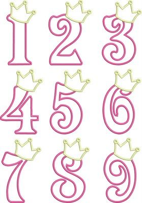 Birthday Princess Numbers so cute Im thinking of making the