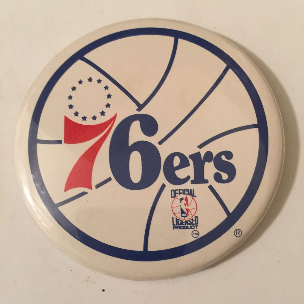 "vintage NBA 3.5"" button philadelphia 76er's from 2.99"