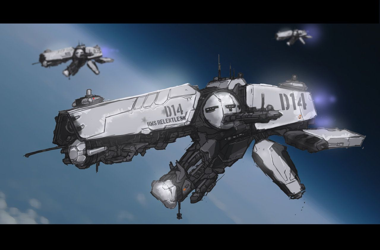 Space ship a day 001 bull dog class destroyer by on deviantart sci - Dogs for small spaces concept ...