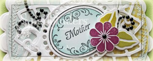 Mother's  Day Card designed by Beate with full tutorial.  Using Family Garden.