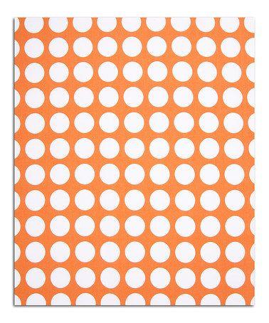 Loving this Orange Dot 12' Fabric on #zulily! #zulilyfinds BENCH CUSION
