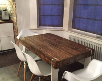 Modern Dining Table Kitchen Table Reclaimed wood corian Decor ...