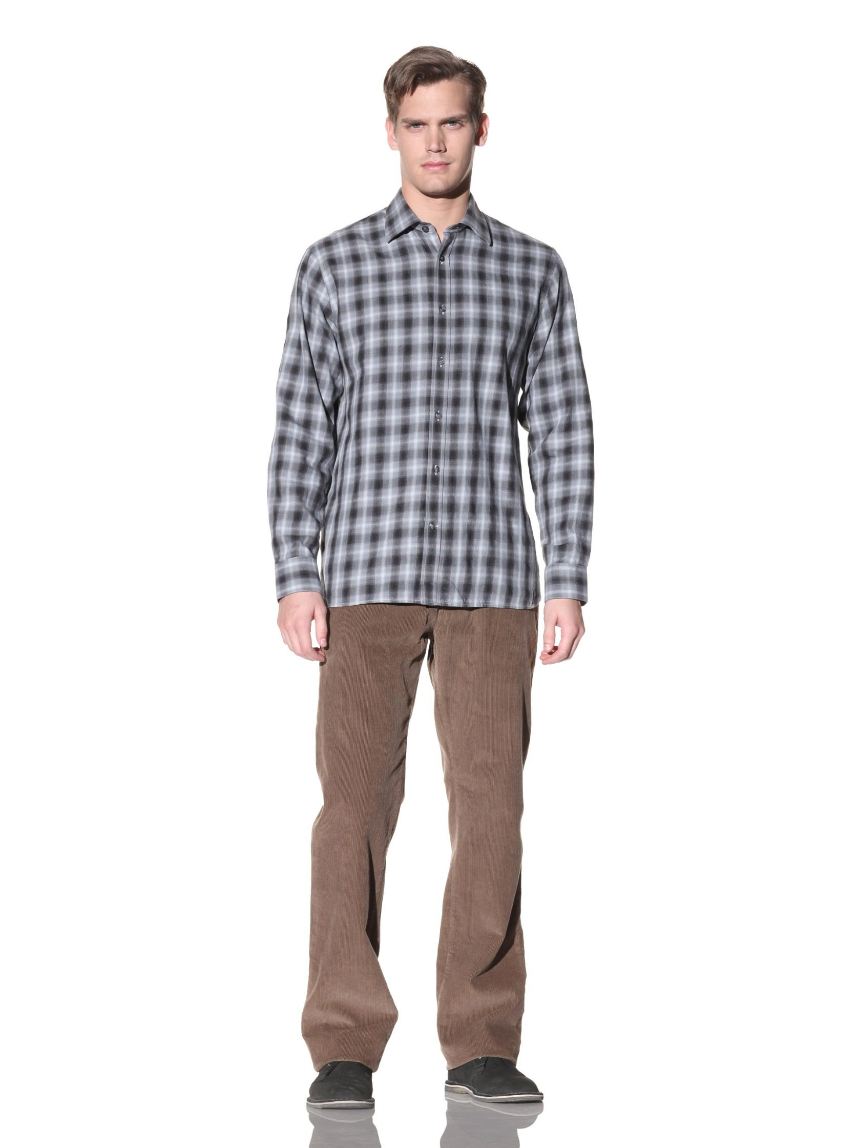 Hickey Freeman - Plaid Button-Up Shirt