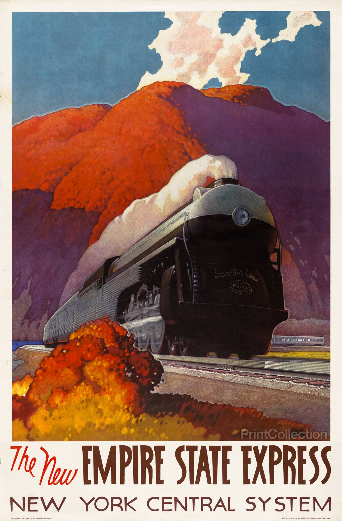 Vintage Old Transport Poster Auto Railers 1930/'s Print Art A4 A3 A2 A1