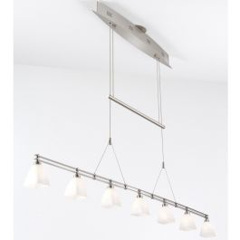Holtkotter - Low Voltage 7 Light Adjustable Island Chandelier $1,638.00 Lamps.com    #Inhabitatlamps  What a statement piece to build your kitchen around.