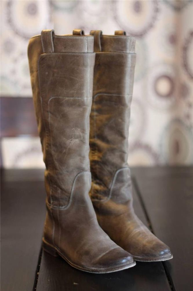 903cc7c2e2a Frye Paige Tall Riding Boots 77534 Taupe Gray Antique Leather ...