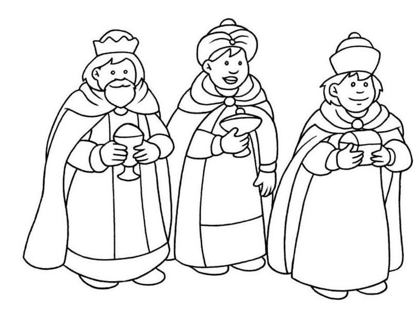 Tres Reyes Magos Ilustraciones Coronas De Reyes Magos Paginas Para Colorear Rey Mago